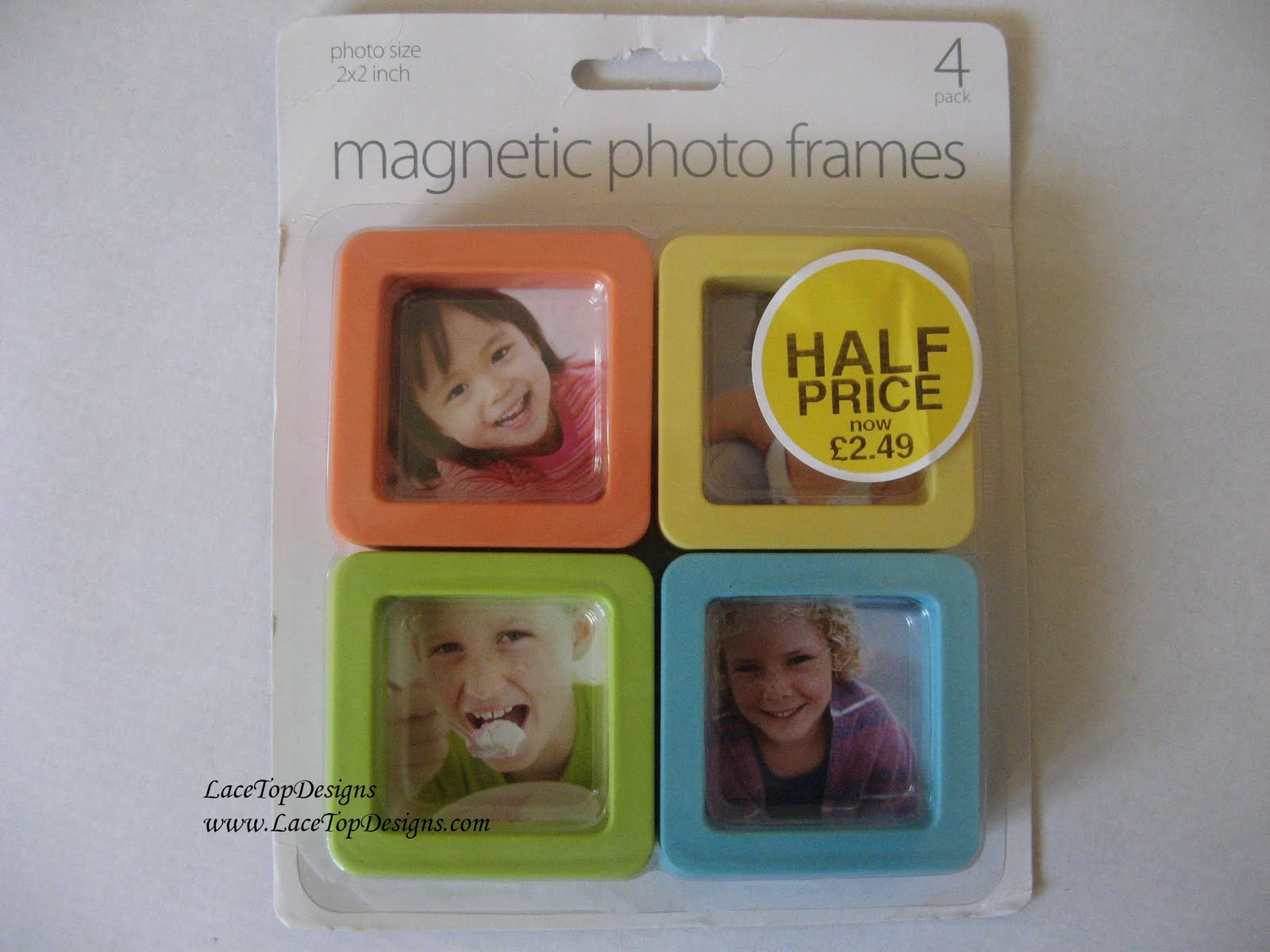 LaceTopDesigns: Photo Frame Fridge Magnet