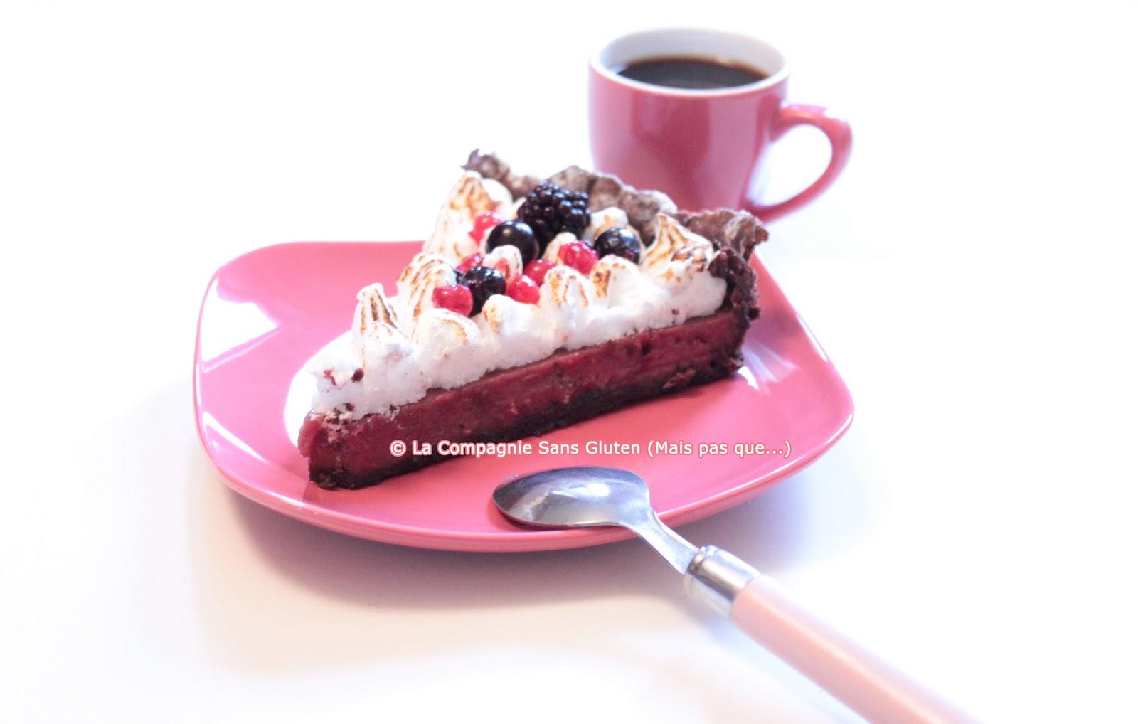 tarte aux fruits rouges meringu e sans gluten et sans lait la compagnie sans gluten un blog. Black Bedroom Furniture Sets. Home Design Ideas