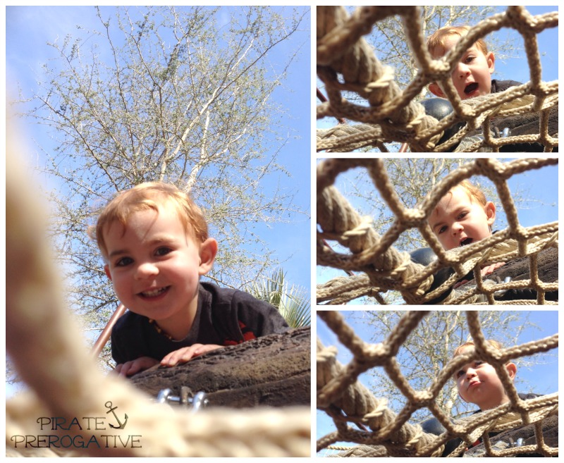 Help! I'm trapped under this cargo net and I'm being taunted by a toddler. | Pirate Prerogative