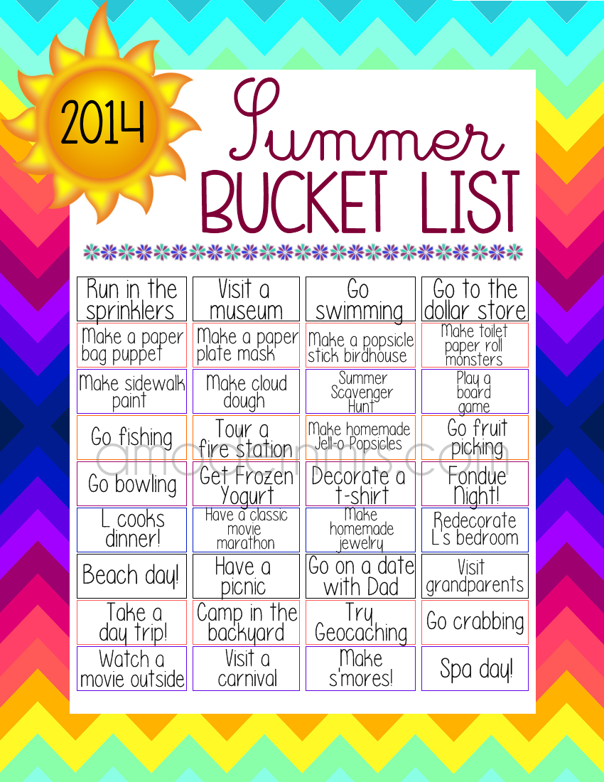L's 2014 Summer Bucket List — a Modern Mrs.