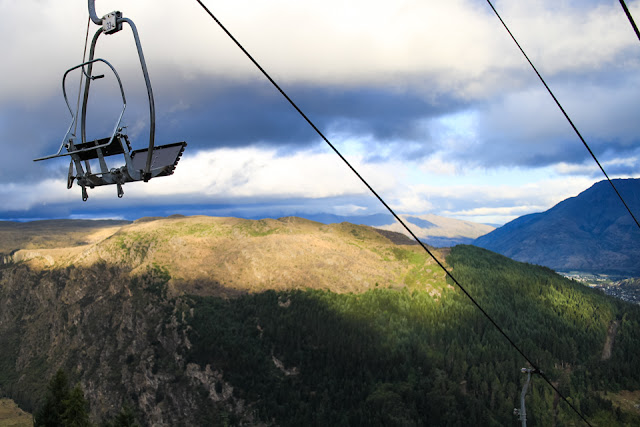 chair lift over Queenstown