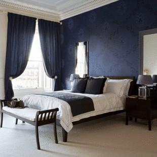 Navy Blue Interior Design Idea Meu Mundo E Tudo Mais Quarto Em Azul Marinho