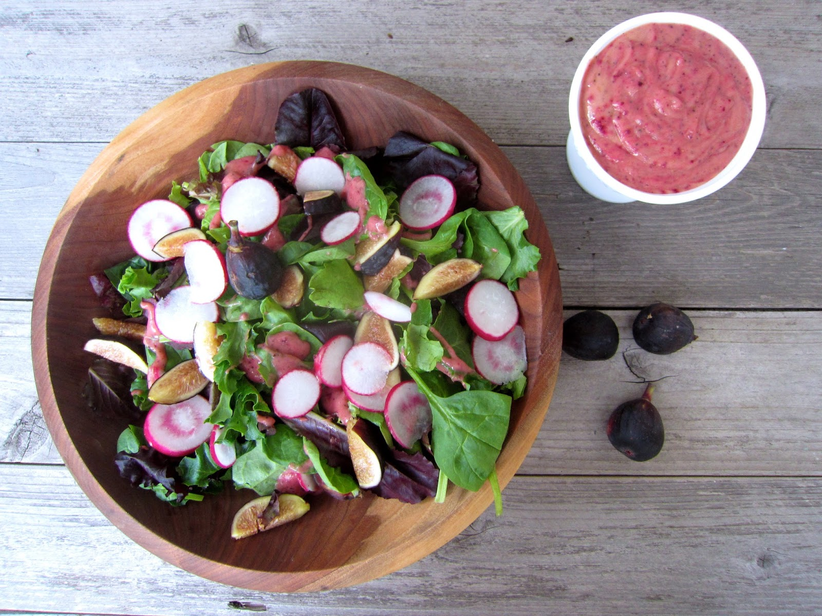 Paleo fig salad dressing