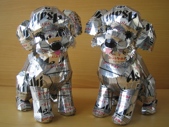Macaon's artwork from a recycled cans