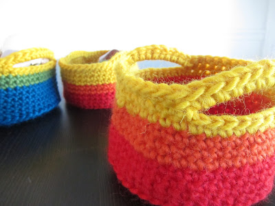 Crochet in Color: Chunky Crocheted Basket Pattern