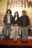 Imtiaz Ali, Alia Bhatt and A R Rahman at Press conference of 'Highway'