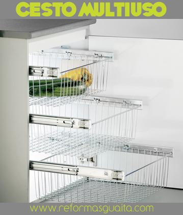 Cestos extraibles para equipar tu cocina reformas guaita - Muebles de cocina metalicos ...