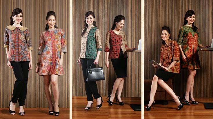 Model Busana Batik Wanita  KOLEKSI BATIK TERLENGKAP