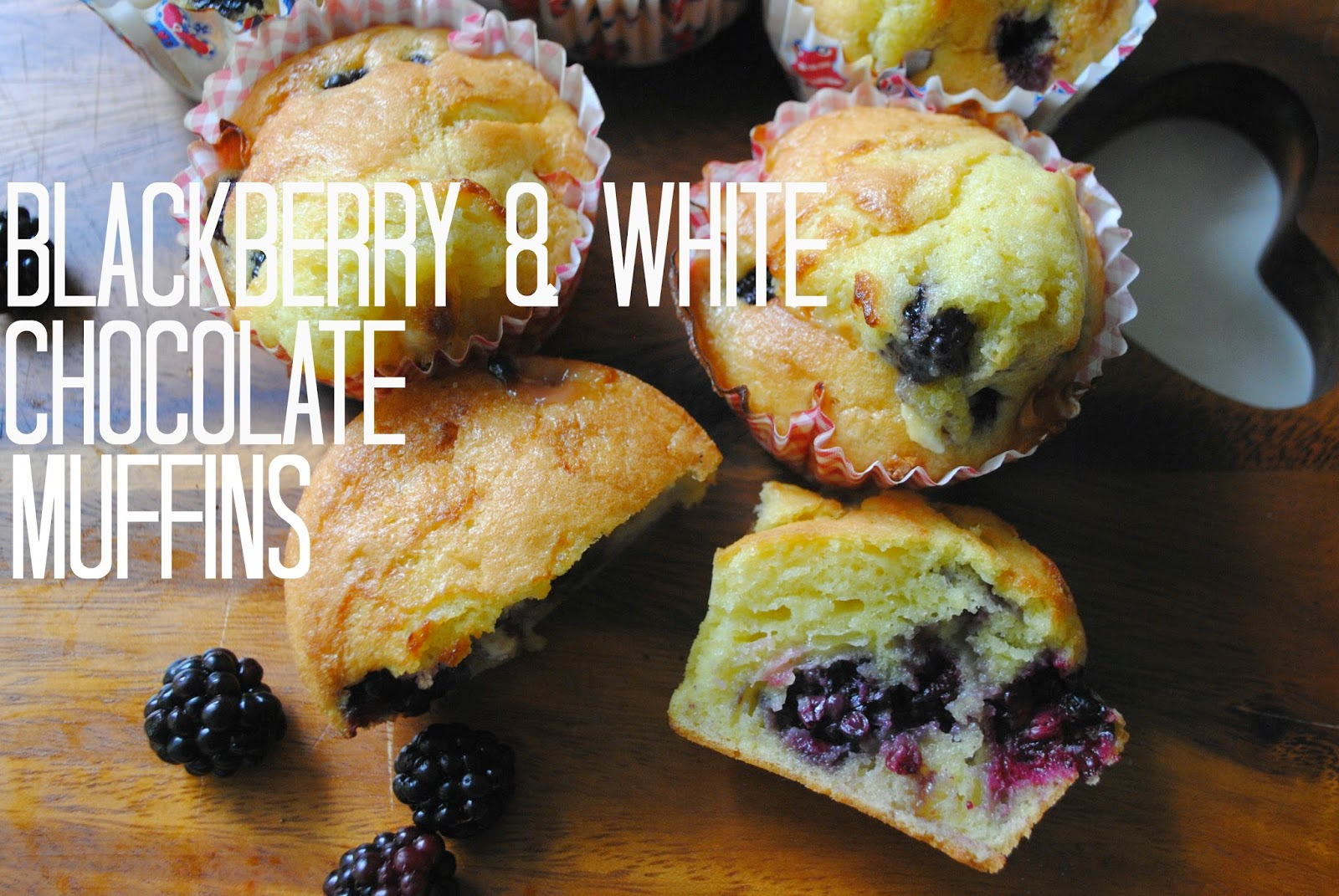 Blackberry and white chocolate muffin recipe