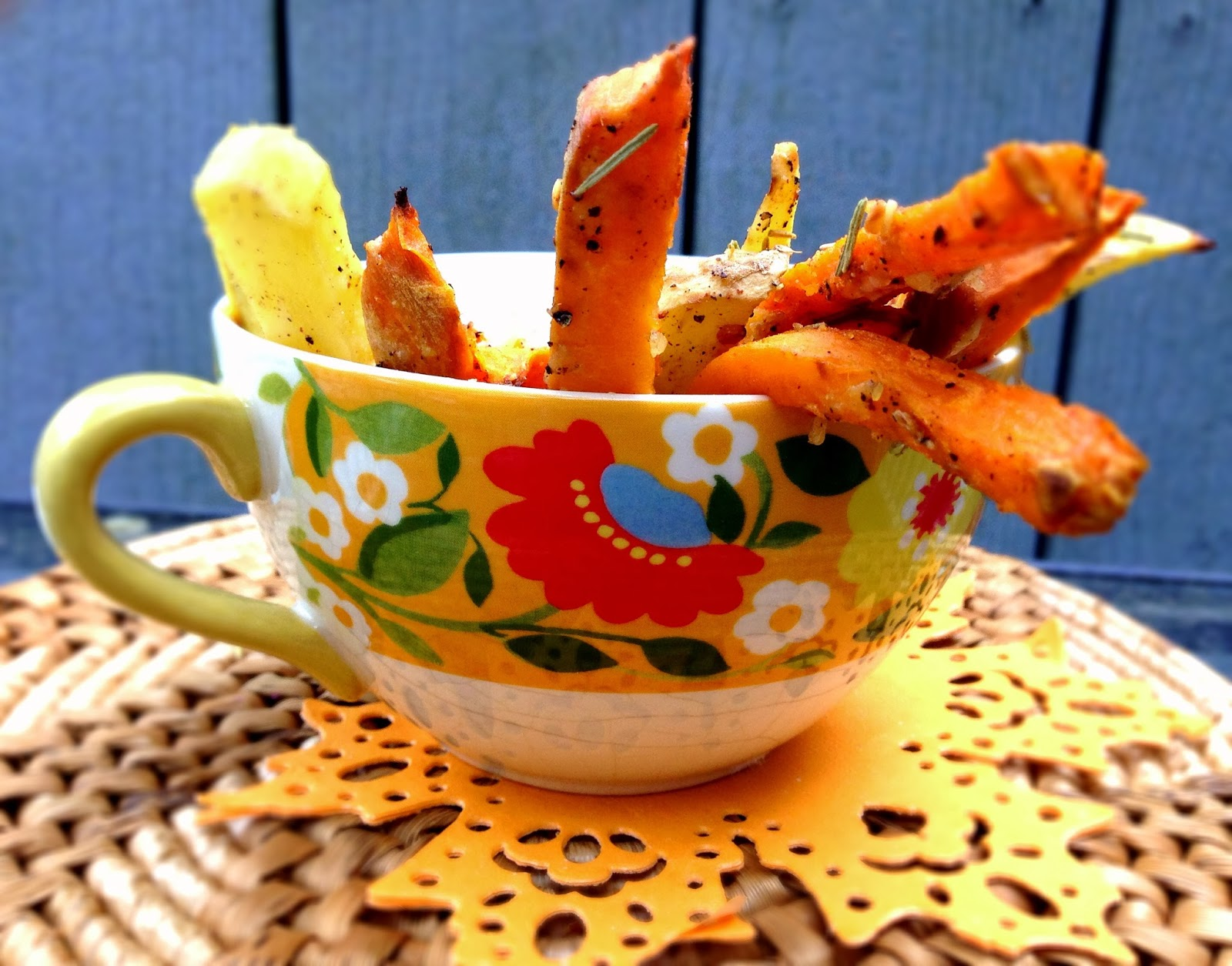 Oven Baked Rosemary Parmesan Sweet Potato Fries |Noms McGee