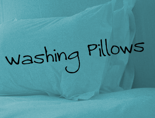 can feather pillows be machine washed