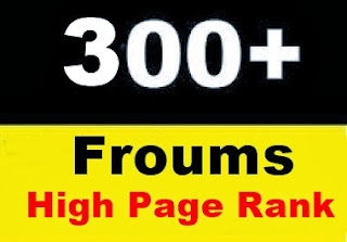 300 High Page Rank Forums