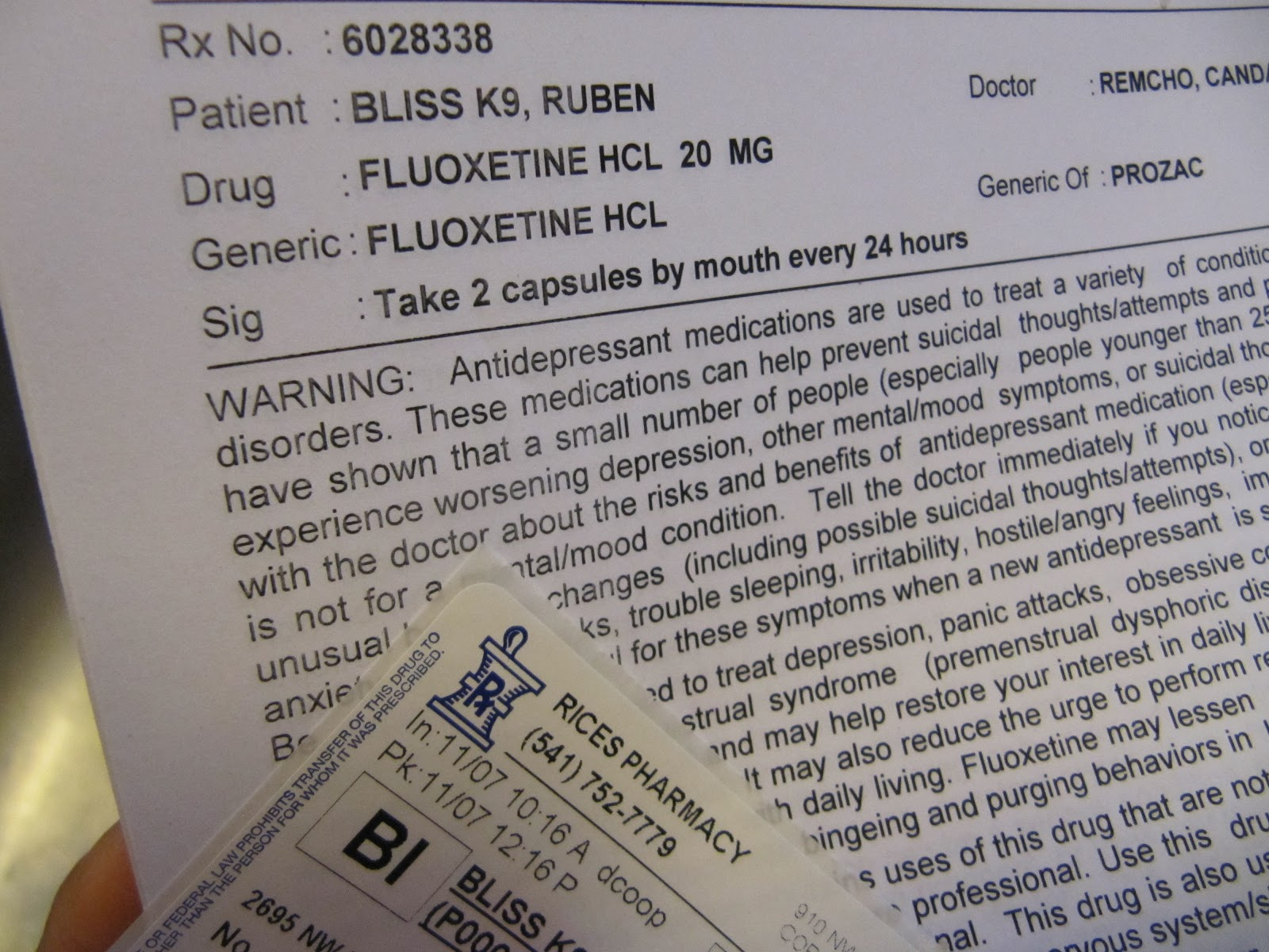 The whole truth about fluoxetine