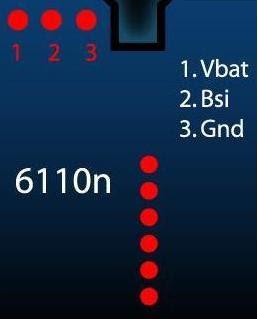 Nokia 6110n Pinout