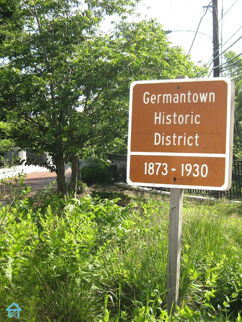 germantown-md+train+station+distric+sign