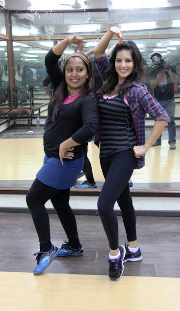 Sunny Leone's dance rehearsal with choreographer Shabina Khan