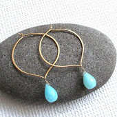 Lotus Hoops with interchangable gemstones