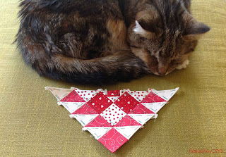 Sparky  the Cat with Block 92 Nearly Insane Quilt