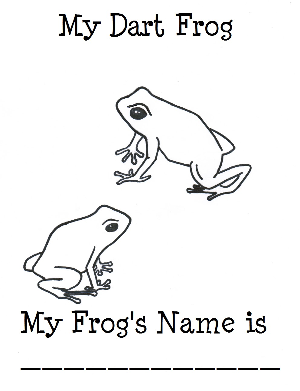 chuck does art coloring sheet poison dart frog