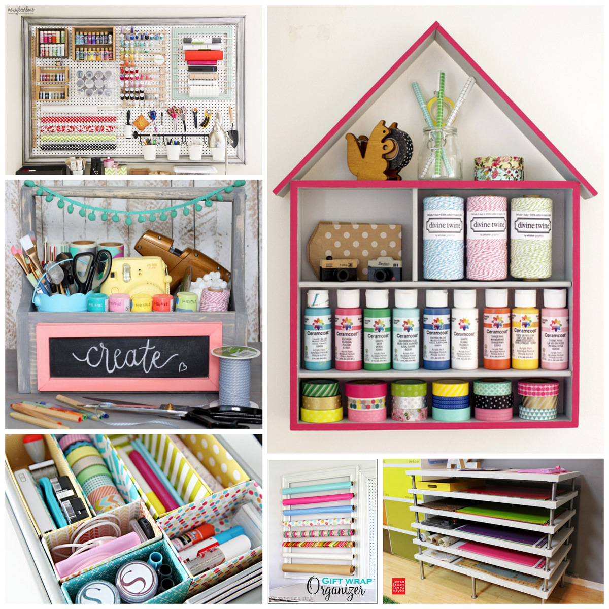 Genial Six For Saturday Or Sunday: DIY Craft Supply Storage Ideas
