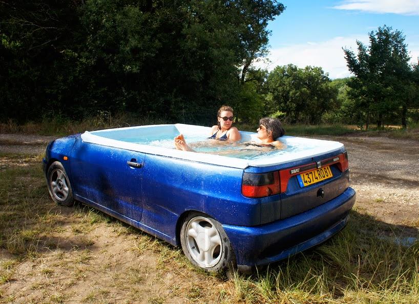 Auto Convertido en Piscina, Ideas de Reciclaje