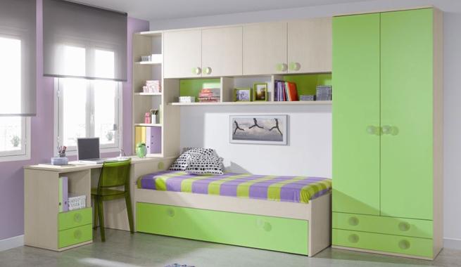 Marzua dormitorios juveniles con cama puente - Modelos de dormitorios juveniles ...