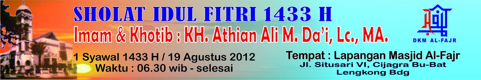 Contoh Spanduk Shalat Idul Fitri