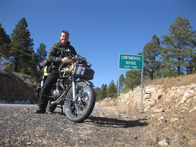 Continental Divide, New Mexico, Motorcycle trip, bike ride