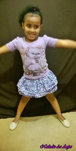 Look do dia: Infantil - saia e blusa lilás