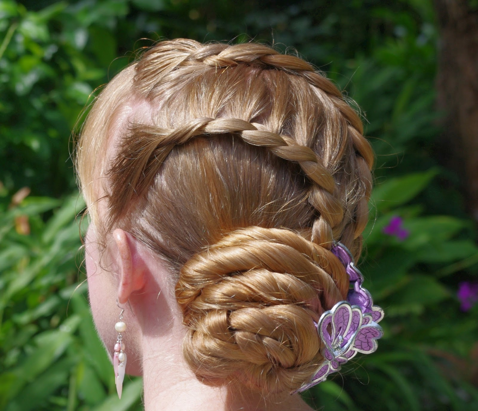 Braids Amp Hairstyles For Super Long Hair Purple Hairclip And