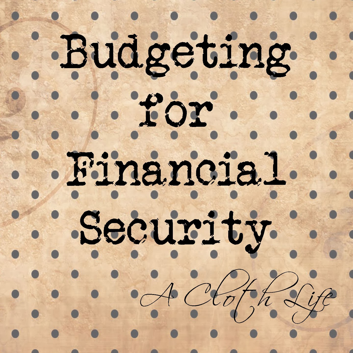 budgeting for financial security