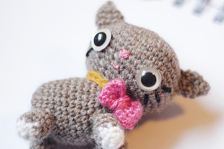 Amigurumi Kitten closeup