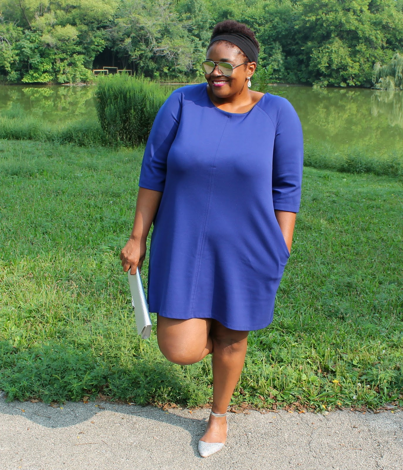 What I Wore} Shift Dressing In Royal Blue | Curvatude™ - A Chicago ...