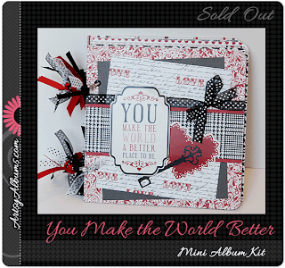 you make the world better mini album scrapbooking kit