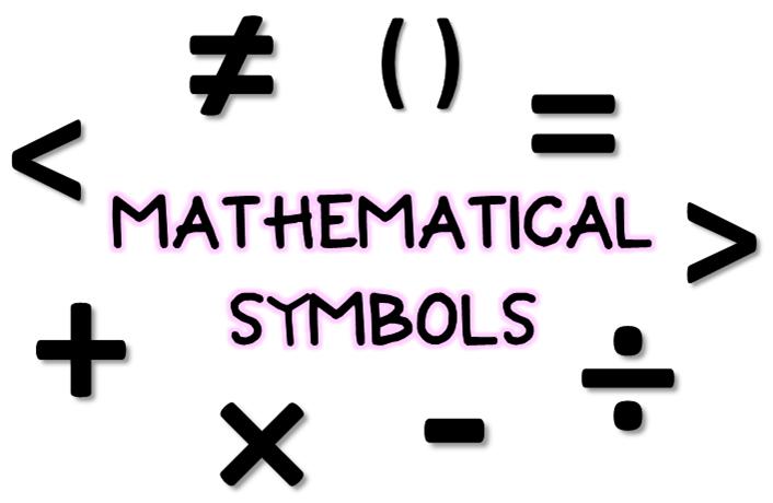 math worksheet : algebra math symbols printable chart  math symbols chart related  : Math Symbols Worksheet