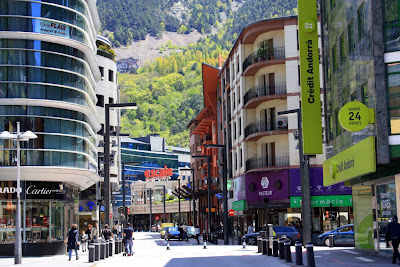 Meritxell avenue in Andorra La Vella