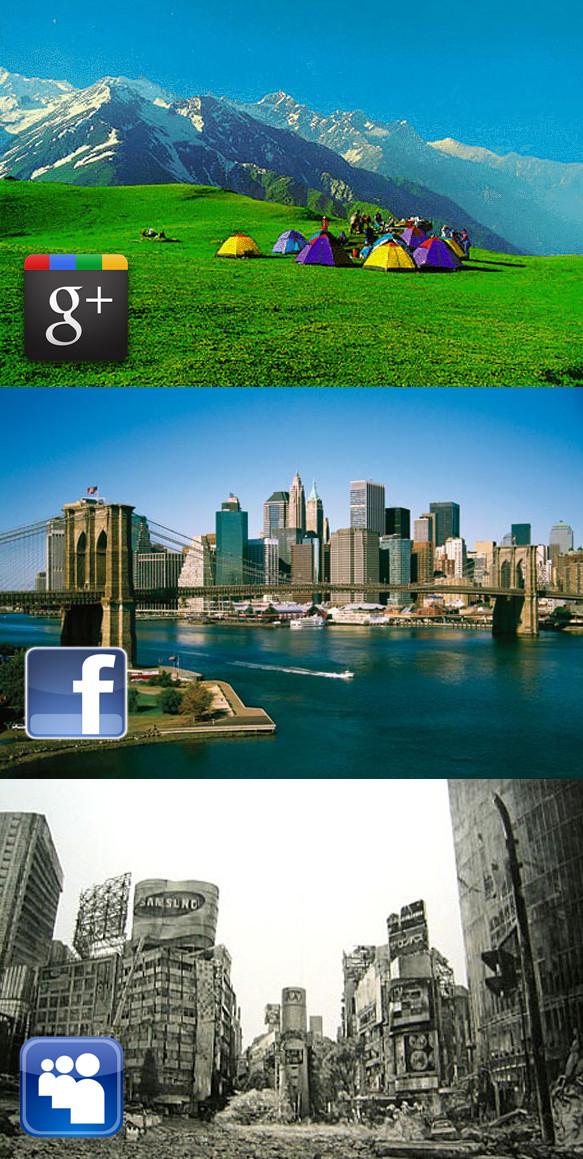Densidade demográfica das mídias sociais