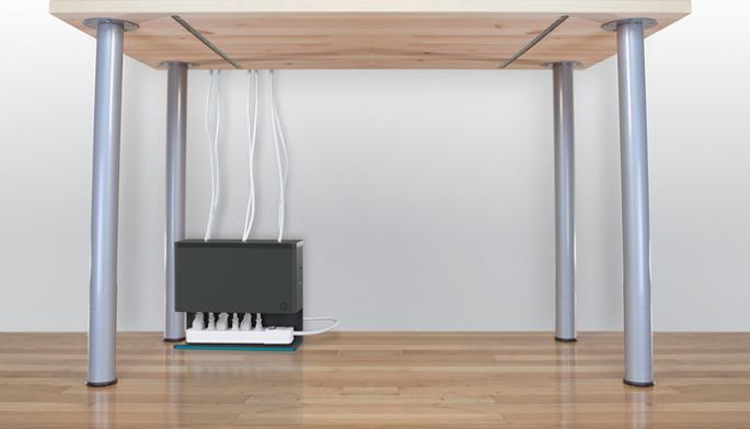 15 clever cable organizers and cool cable holder designs - Under desk cord organizer ...