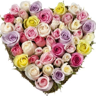 E20 partycolari i fiori di maggio - Bouquet de fleur en coeur ...