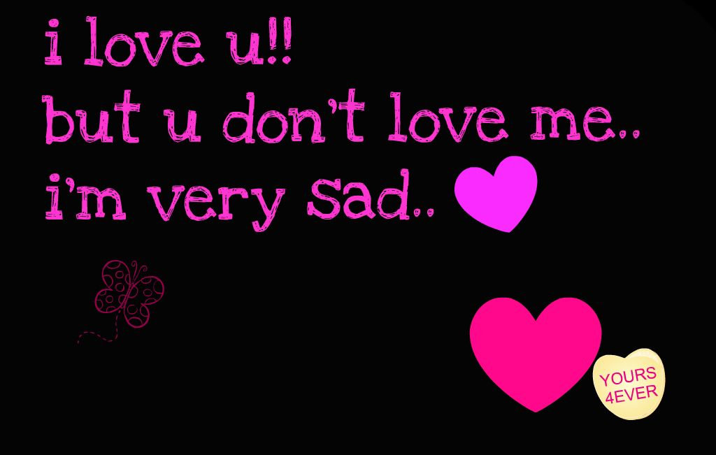 i love u but u dont love me