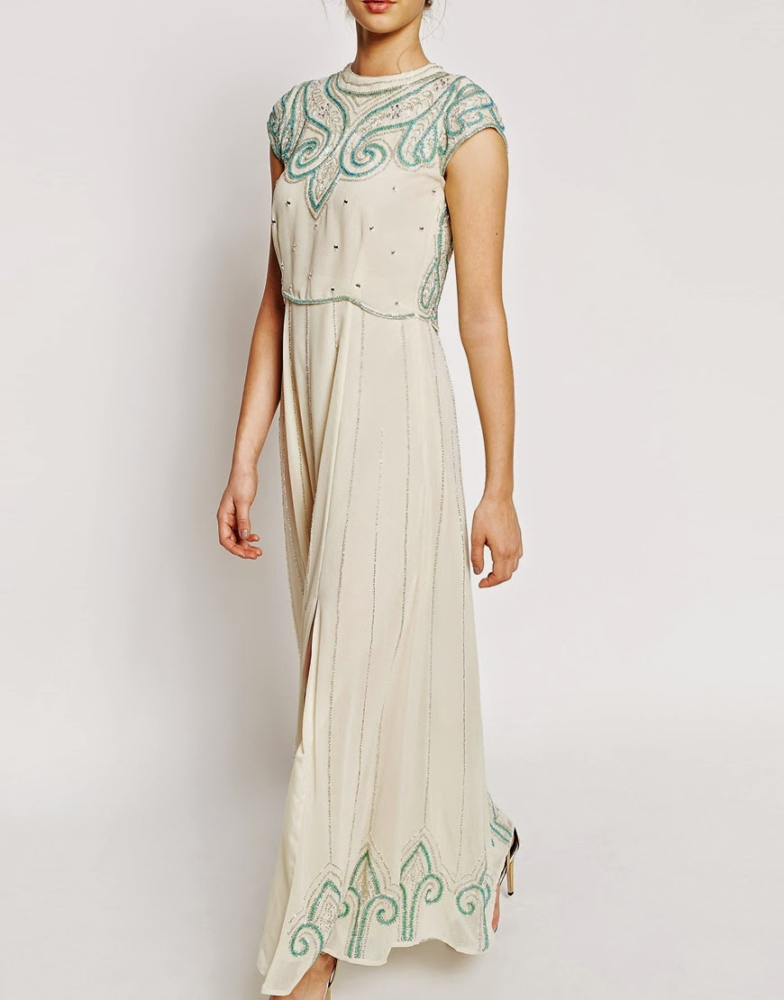 frock frill cream maxi dress,