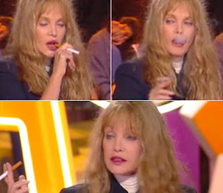 arielle dombasle smoking