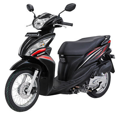 2011 Honda Spacy Spoke Black Sporty Scooter