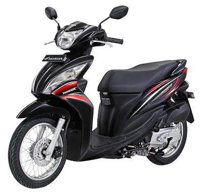 2011 Honda Spacy Spoke Black Sporty Scooter