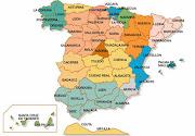 MAPAS: Comarcas de GALICIA y provincias de ESPAÑA (mapa espana)