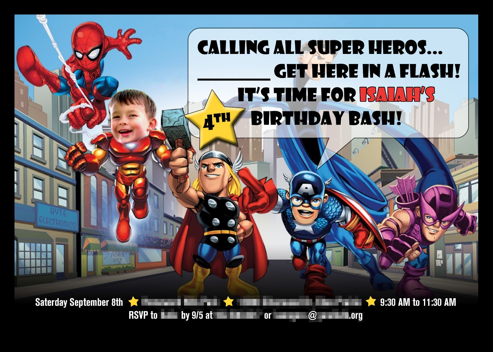 Remember the Armadillo: Superhero Birthday Party