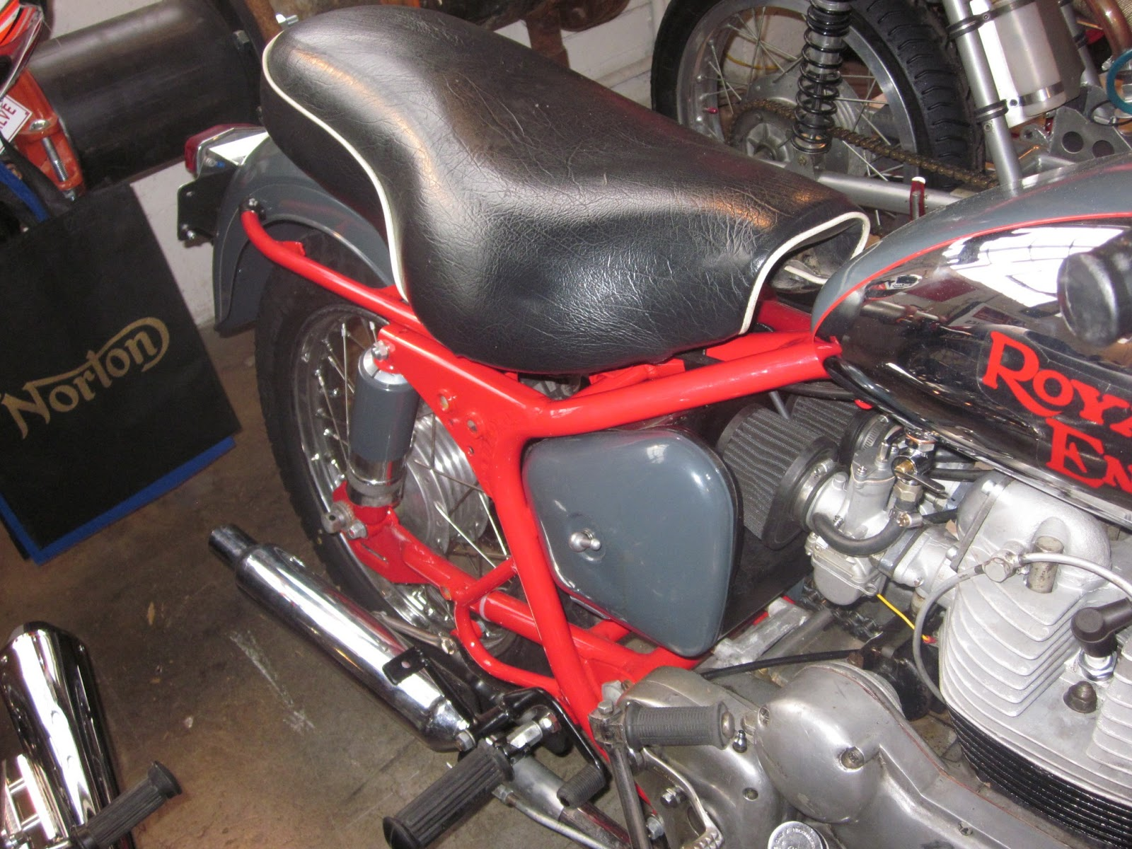 Oldmotodude 1966 Royal Enfield Interceptor On Display At