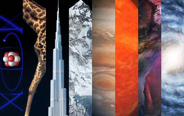 Infográfico interactivo | do átomo ao universo