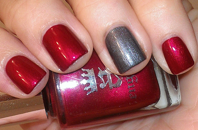 shimmer red shimmer steel grey