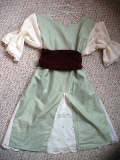 little girl's peasant dress